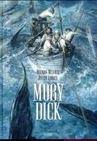 Couverture du livre « Moby Dick » de Herman Melville et Anton Lomaey aux éditions Sarbacane