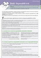 Couverture du livre « Droit ; responsabilité civile » de Stephane-Laurent Texier aux éditions Enrick B.