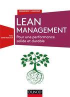 Couverture du livre « Lean management ; pour une performance solide et durable » de Radu Demetrescoux aux éditions Dunod