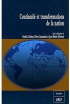 Couverture du livre « Continuite et transformations de la nation » de Collectif aux éditions Pu De Dijon