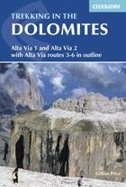 Couverture du livre « Trekking in the dolomites » de Gillian Price aux éditions Cicerone Press