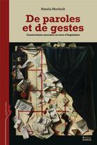 Couverture du livre « De paroles et de gestes » de Natalia Muchnik aux éditions Ehess