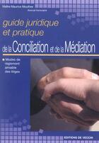 Couverture du livre « Conciliation Et Meditation » de Mouthier aux éditions De Vecchi