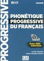 Couverture du livre « Phonetique progressive du francais - avance - nouvelle couverture » de Charliac Lucile aux éditions Cle International