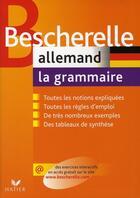 Couverture du livre « Bescherelle allemand ; la grammaire » de Cauquil Gerard aux éditions Hatier