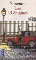 Couverture du livre « Treize Enigmes » de Georges Simenon aux éditions Pocket
