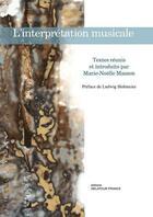 Couverture du livre « L'interpretation musicale » de Collectif aux éditions Delatour