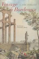 Couverture du livre « Voyage à Bordeaux » de Claude Perrault aux éditions Ramsay