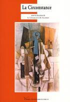 Couverture du livre « La circonstance » de Anne-Yvonne Julien aux éditions Pu De Paris Ouest