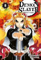 Couverture du livre « Demon slayer T.8 » de Koyoharu Gotoge aux éditions Panini