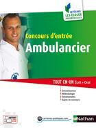 Couverture du livre « Concours d'entrée ambulancier ; catégorie C (édition 2016) » de Annie Godrie aux éditions Nathan