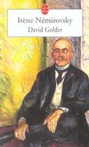 Couverture du livre « David Golder » de Irene Nemirovsky aux éditions Lgf