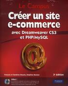 Couverture du livre « Créer un site de e-commerce avec Dreamweaver CS3 et PHP/MySQL » de Houste/Bouton aux éditions Pearson