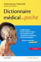 Couverture du livre « Dictionnaire médical de poche (3e édition) » de Collectif aux éditions Elsevier-masson