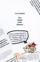 Couverture du livre « Une simple p'tite annonce » de Loic Le Doeuff aux éditions Edilivre-aparis