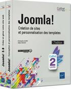 Couverture du livre « Joomla! ; coffret de 2 livres : création de sites et personnalisation des templates (2e édition) » de Christophe Aubry et Didier Mazier aux éditions Eni