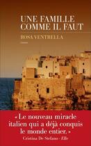 Couverture du livre « Une famille comme il faut » de Rosa Ventrella aux éditions Les Escales