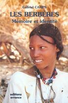 Couverture du livre « Les berberes » de Gabriel Camps aux éditions Errance