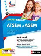 Couverture du livre « Concours ATSEM et ASEM ; écrit + oral ; catégorie C (édition 2020/2021) » de Louisa Rebih aux éditions Nathan