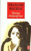 Couverture du livre « Thérèse Desqueyroux » de Francois Mauriac aux éditions Lgf