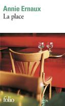 Couverture du livre « La place » de Annie Ernaux aux éditions Gallimard
