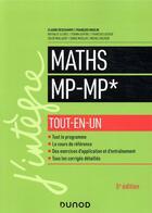 Couverture du livre « Mathématiques MP-MP* ; tout-en-un » de Collectif aux éditions Dunod