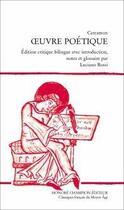 Couverture du livre « Cercamon ; oeuvre poétique » de Cercamon aux éditions Honore Champion
