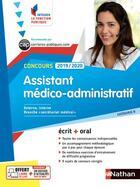Couverture du livre « Concours assistant médico-administratif ; catégorie B (édition 2019/2020) » de Collectif aux éditions Nathan