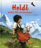 Couverture du livre « Heidi, petite fille des montagnes » de Vincent Dutrait et Jean-Pierre Kerloc'H aux éditions Glenat Jeunesse