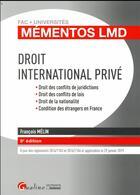 Couverture du livre « Droit international privé (8e édition) » de Francois Melin aux éditions Gualino