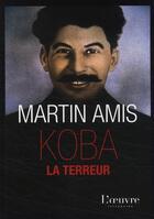 Couverture du livre « Koba la terreur » de Martin Amis aux éditions L'oeuvre