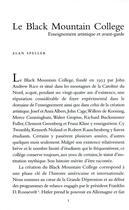 Couverture du livre « Le Black Mountain college » de Alan Speller aux éditions Lettre Volee