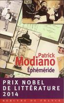 Couverture du livre « Ephéméride » de Patrick Modiano aux éditions Mercure De France