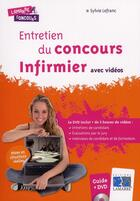Couverture du livre « Entretien du concours infirmier avec vidéos » de Sylvie Lefranc aux éditions Lamarre