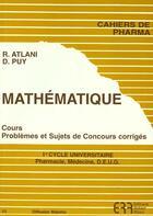 Couverture du livre « Mathematique N.33 » de Robert Atlani et D Puy aux éditions Atlani