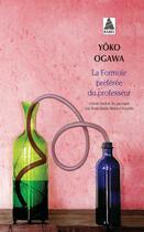 Couverture du livre « La formule préférée du professeur » de Yoko Ogawa aux éditions Actes Sud