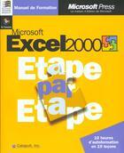 Couverture du livre « Microsoft Excel 2000 Etape Par Etape » de Catapult aux éditions Microsoft Press