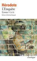 Couverture du livre « L'enquête t.V à IX » de Herodote aux éditions Folio