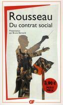 Couverture du livre « Du contrat social » de Jean-Jacques Rousseau aux éditions Flammarion