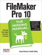 Couverture du livre « FileMaker Pro 10 ; the missing manual » de Susan Prosser aux éditions O'reilly Media