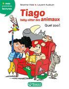 Couverture du livre « Tiago, baby-sitter des animaux T.1 ; quel zoo ! » de Severine Vidal et Laurent Audouin aux éditions Magnard