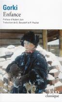 Couverture du livre « Enfance » de Maxime Gorki aux éditions Gallimard