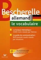 Couverture du livre « Bescherelle allemand ; le vocabulaire » de Gunhild Samson aux éditions Hatier