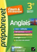 Couverture du livre « Anglais 3e (a2-b1) - prepabrevet cours & entrainement » de Bignaux Jeanne-Franc aux éditions Hatier