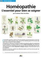 Couverture du livre « PETIT GUIDE T.90 ; homéopathie » de Alain Horvilleur aux éditions Aedis