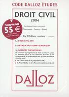 Couverture du livre « Droit civil 2004 (103e édition) » de Collectif aux éditions Dalloz