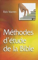 Couverture du livre « Méthodes d'étude de la bible » de R. Warren aux éditions La Maison De La Bible
