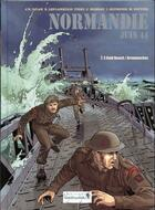 Couverture du livre « Normandie juin 44 t.3 ; Old Beach ; Arromanches » de Tieko et Erick Leplanquais et Djian aux éditions Vagabondages