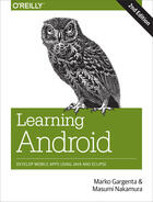 Couverture du livre « Learning Android » de Masumi Nakamura aux éditions O`reilly Media