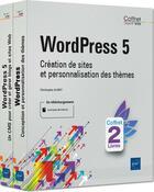 Couverture du livre « WordPress 5 ; coffret de 2 livres : création de sites et personnalisation des thèmes » de Christophe Aubry aux éditions Eni